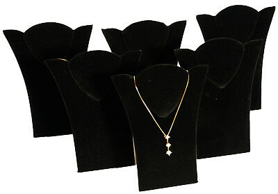 6 New Black Velvet Padded Necklace Pendant Display 6