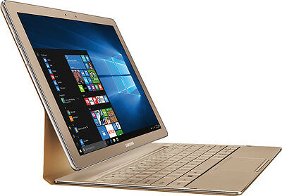 """Samsung - Galaxy TabPro S 2-in-1 12"""" Touch-Screen Laptop - 256GB - Gold"""