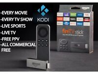 Amazon Firestick with Kodi, Live Sports, UFC, WWE Movies, TV Box Sets