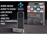 Amazon Fire Stick- Fully Loaded with KODI. Pulse CCM Build. MOVIES + SPORTS +LIVE TV +KIDS many more