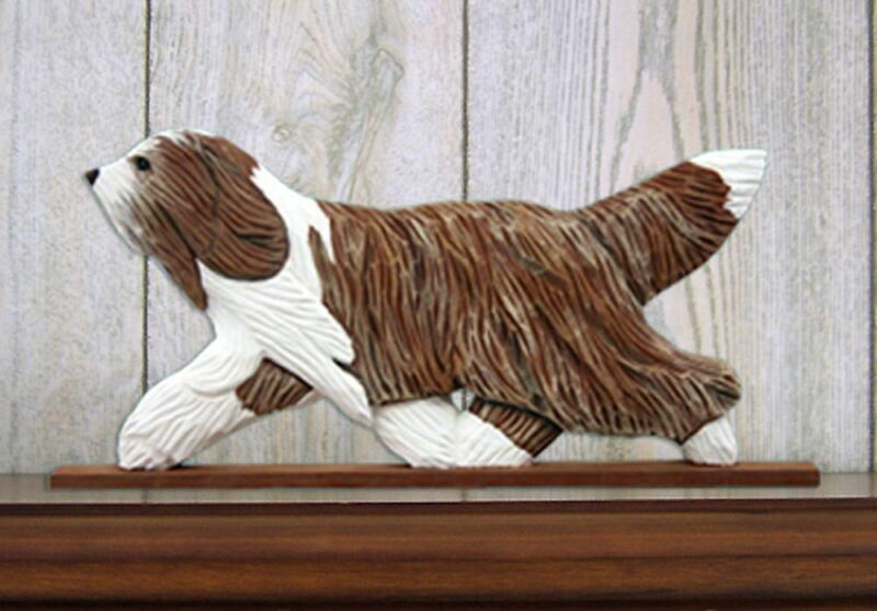 Bearded Collie Plaque Wall Decor Brown