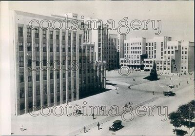 1944 Government House & Buildings Minsk Belarus Russia Press Photo