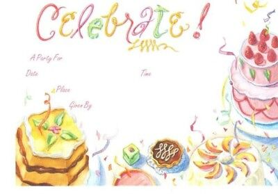 (Celebrate party cakes invitations 8 x 5.5 - 10 pieces)