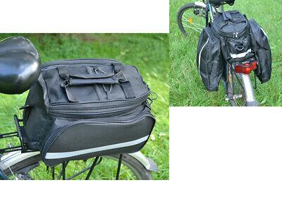 1x Bolsa de Equipaje para Bicicleta Negro Portaequipajes Alforja Accesorios
