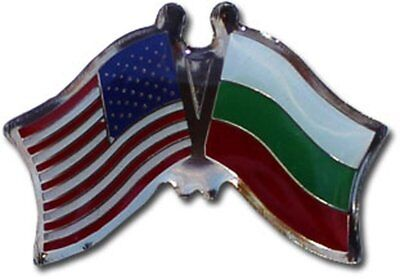 Wholesale Pack of 50 USA American Bulgaria Friendship Flag Hat Cap lapel Pin