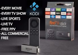 new Amazon Fire TV Stick - loaded with Kodi and Mobdro apps. fully set up to go