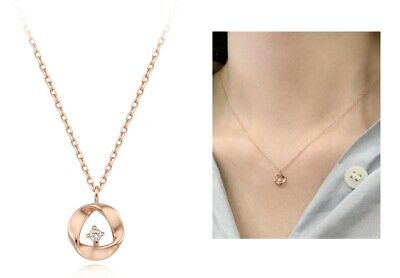 StoneHenge 14K Necklace SO0196 Rose Gold Plated Cubic Zirconia Korean Jewelry