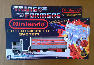 Transformers G1 Nintendo Optimus Prime with Custom Box!!!