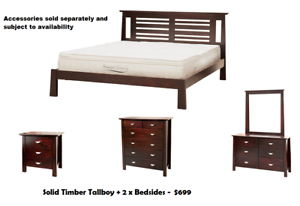 BRAND NEW Solid Timber QUEEN Size Bed Frame DELIVERED FREE