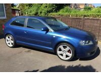 "Audi A3 2.0 tdi Sport 140bhp S line 18"" Alloys Rare Black and Blue Sports interior £1650"