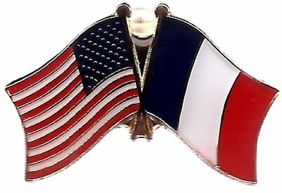 Wholesale Pack of 50 USA American France Friendship Flag Hat Cap lapel Pin
