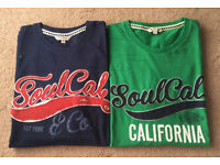 2 Men's Soulcal T-shirts - Never Worn - Small