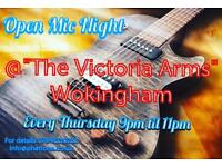Open Mic/Jam Session Every Thursday @ Victoria Arms, Wokingham.
