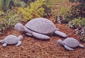 Xmas Gift - 3-Piece Garden Resin Turtle Set - Mum and 2 Babies - NEW