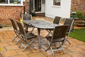 Hardwood table and chairs. REDUCED for quick sale