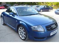 2004/04 AUDI TT 1.8T COUPE 225BHP 6SPD MANUAL, RECENT CLUTCH+FLYWHEEL, CAMBELT DONE, FSH, HPI CLEAR