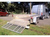 Ifor williams GD105G/DR twin axle trailer, 2000kg, 10 x 5 foot internal with drop down ramp