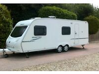 SPRITE QUATTRO 2008 SIX BERTH TWIN AXLE TOURING CARAVAN VERY GOOD CONDITION FULLY EQUIPPED .