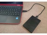 Portable Hard Drive with HD Movies