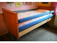 Single electric profiling bed with waterproof mattress, cost £4,500