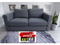 RRP: £450 IKEA VIMLE TWO SEATER GREY SOFA LONDON DELIVERY (OFFICE DFS)