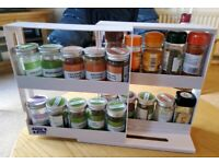 Creative space-saving swivel spice rack