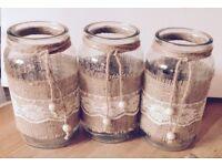 Wedding jars / Center Pieces