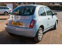 Perfect first car! Nissan Micra Inita 1.2, 3 door. 104k miles, baby blue. 2 owners.