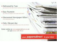 NEWSPAPER DELIVERY DRIVERS URGENTLY REQUIRED - IMMEDIATE START
