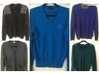 Selection of men's designer jumpers - all size 'S'