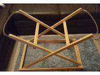 Classic Clair de Lune Wooden Folding Rocking Moses Basket Stand