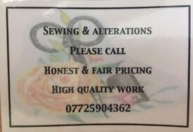 Sewing & Alterations - Quality work at a fair price. - East Grinstead