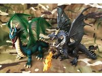 GREAT SCHLEICH PAPO HUGE DRAGON DRAGONS FIRE BREATHING RARE WORLD OF KNIGHTS ANIMAL TOY MODEL RITTER