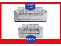 👾New 2 Seater £169 3S £195 3+2 £295 Corner Sofa £295-Crushed Velvet Jumbo Cord Brand Y2