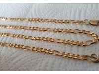 9ct Solid Gold Heavy Figaro Curb Chain Necklace