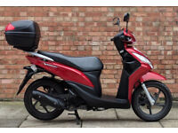 Honda Vision 110cc (14 REG) Red, Excellent condition with only 2700 miles!