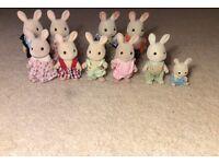 Sylvanian Families Extended Rabbit Family