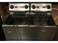 Elec double commercial fryer