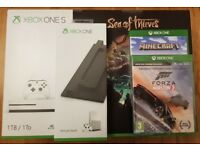 Brand New Xbox One S (1TB) / Sea Of Thieves / Forza 3 / Stand + Minecraft *12 Month Warranty*
