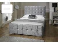 SALE* CRUSHED VELVET DOUBLE BED FRAME £99 *SAME DAY DELIVERY*