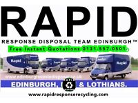 ♻️ RAPID RESPONSE DISPOSAL EDINBURGH™♻HOUSE CLEARANCE ✔RUBBISH REMOVAL ✔MAN AND A VAN.Rated 5 ⭐⭐⭐⭐⭐