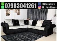 **25% off ** Stylish Luxury CRUSH VELVET GLP 3+2 seater sofa