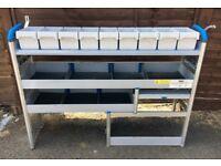 Van Racking / Shelving - SORTIMO / GLOBELYST - 2 Shelves / 9 Boxes - G Condition - Original Brackets