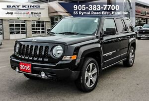 2016 Jeep Patriot HIGH ALTITUDE, 4X4, SUNROOF, REMOTE START, 17