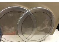 Almost new 28 inch Andante Clear bass drum skins. (2 no )
