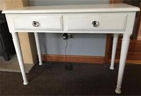 Dressing table / desk / console table .Ducal Solid wood shabby chic painted