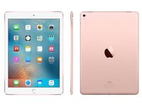iPad Pro 32gb rose gold. 9.7 in. Wifi and cellular. Fully padded case. Also extra cover