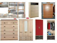 BEDS, WARDROBES & CHEST OF DRAWERS