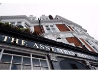 Passionate Full time Bar Staff Wanted For North London Pub