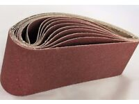 1. 10x Sanding Belt 75x533 Grit 36 - 100 belt sander sand paper endless Brite Direct Ltd.